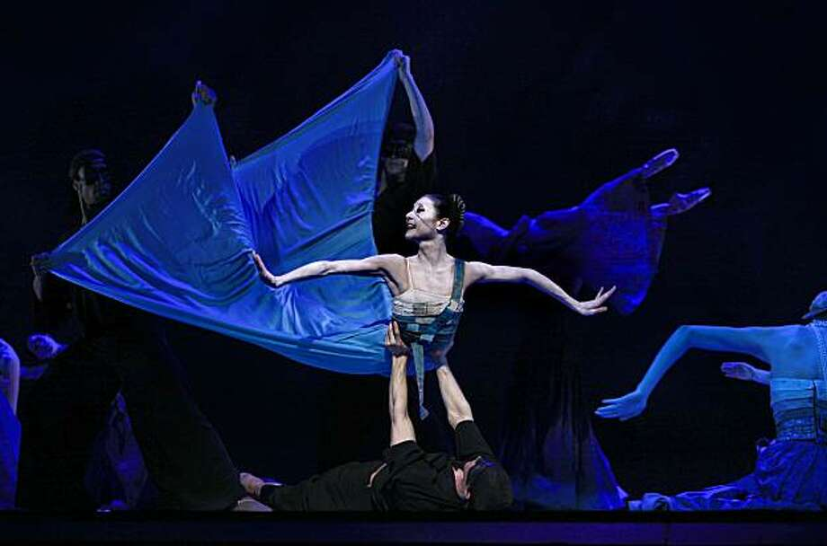 """Dancer Yuan Yuan Tan as the Mermaid glides through the Sea during dress rehearsals on Friday Mar. 19, 2010, as the San Francisco Ballet prepares to debut the world premiere of, """"The Little Mermaid"""" on Saturday night in San Francisco, Calif. Photo: Michael Macor, The Chronicle"""