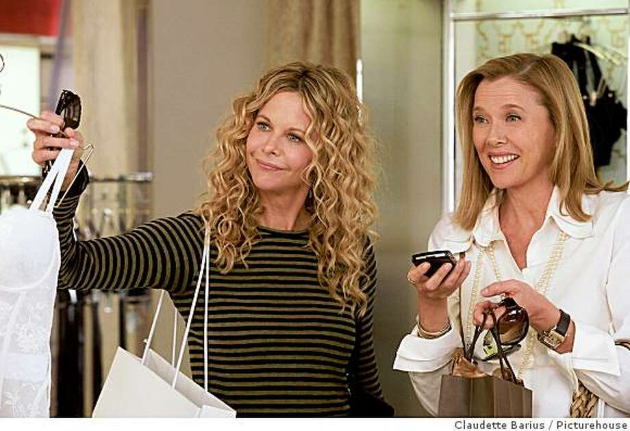 Meg Ryan and Annette Bening in a scene from The Women, directed by Diane English. Photo: Claudette Barius, Picturehouse