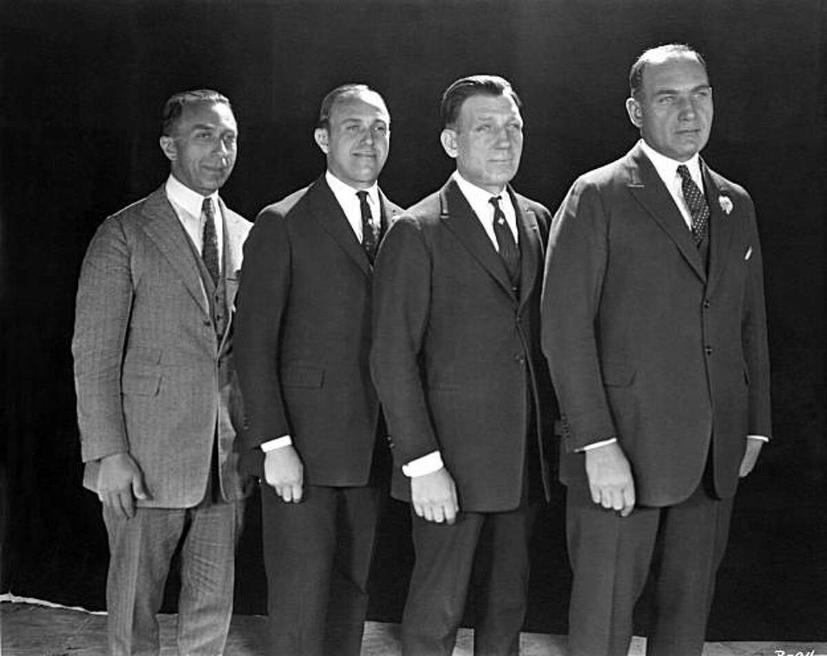 The Warner Brothers: from left, Harry, Jack, Sam and Albert