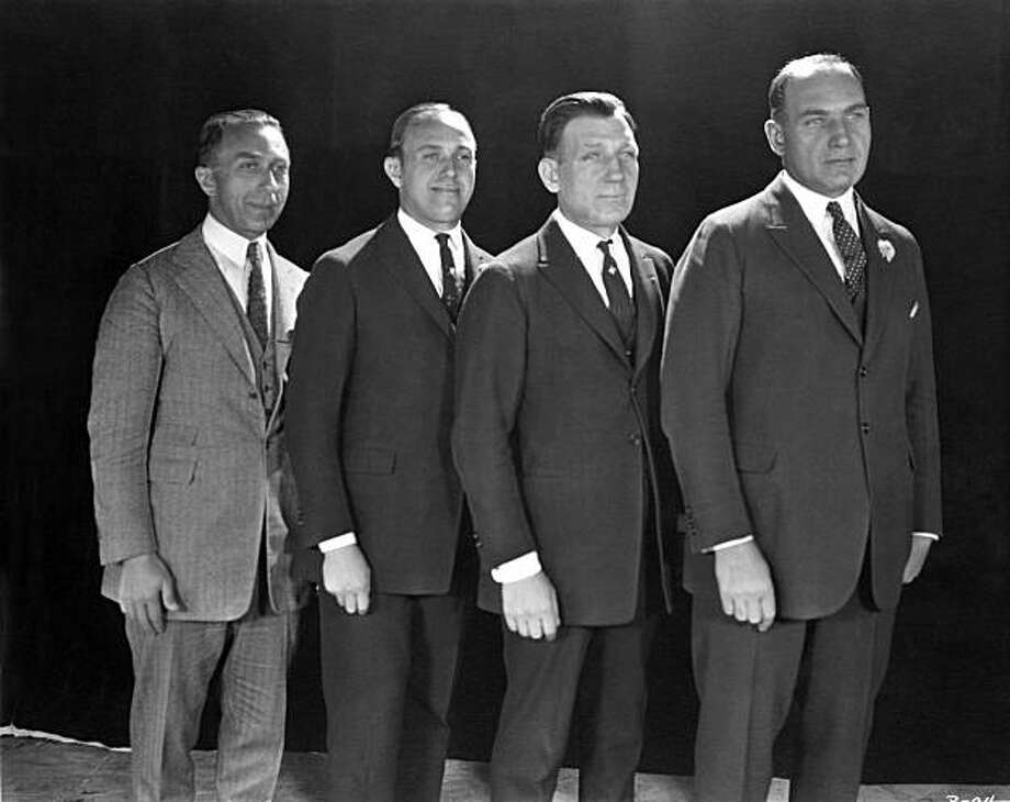 The Warner Brothers: from left, Harry, Jack, Sam and Albert Photo: Warner Home Video