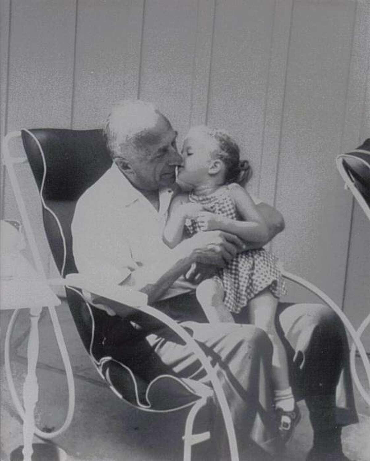 Cass Warner Sperling with her grandfather, Harry Warner, one of the founders of Warner Bros.