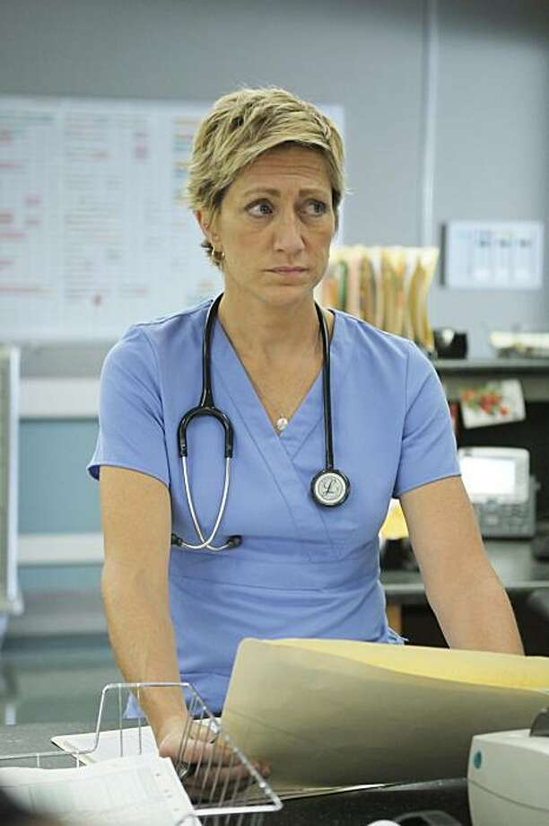 """In this publicity image released by Showtime, Edie Falco stars as Jackie Peyton in the Showtime original series, """"Nurse Jackie."""" Photo: Phil Caruso, AP"""