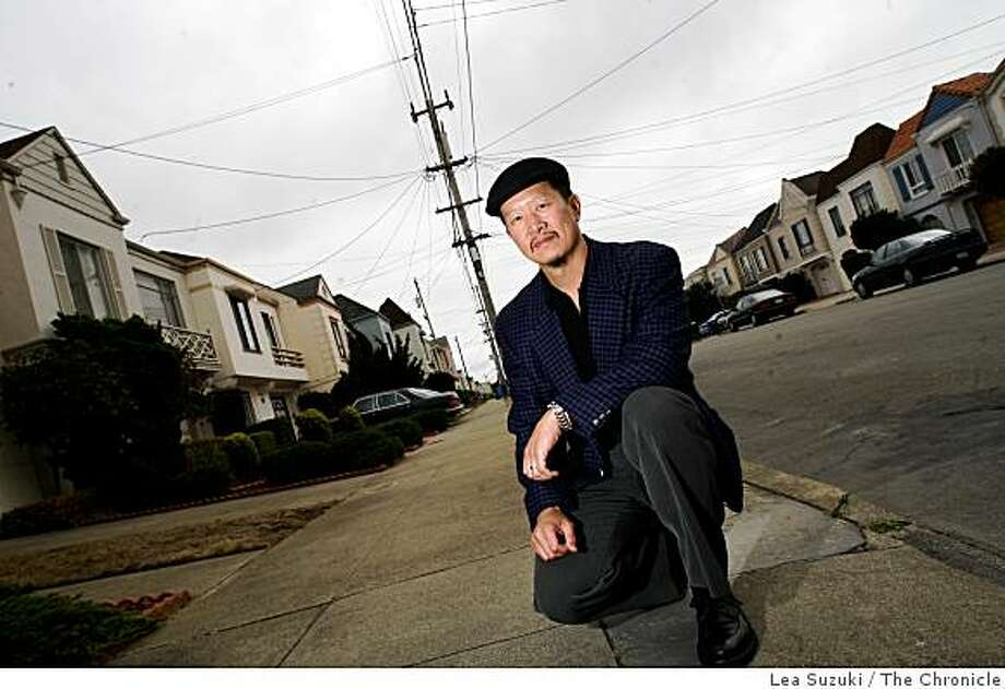 Art Tom, leader of the 37th Avenue SAFE Neighborhood Watch group, on Wednesday, September 10, 2008 in San Francisco, Calif.  Tom says a house this block has been cited for solicitation. Photo: Lea Suzuki, The Chronicle