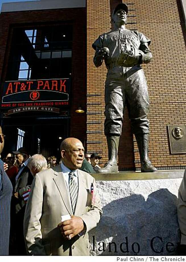 The San Francisco Giants dedicated a statue to Hall of Famer Orlando Cepeda (below) at AT&T Park in San Francisco, Calif., on Saturday, Sept. 6, 2008. Photo: Paul Chinn, The Chronicle
