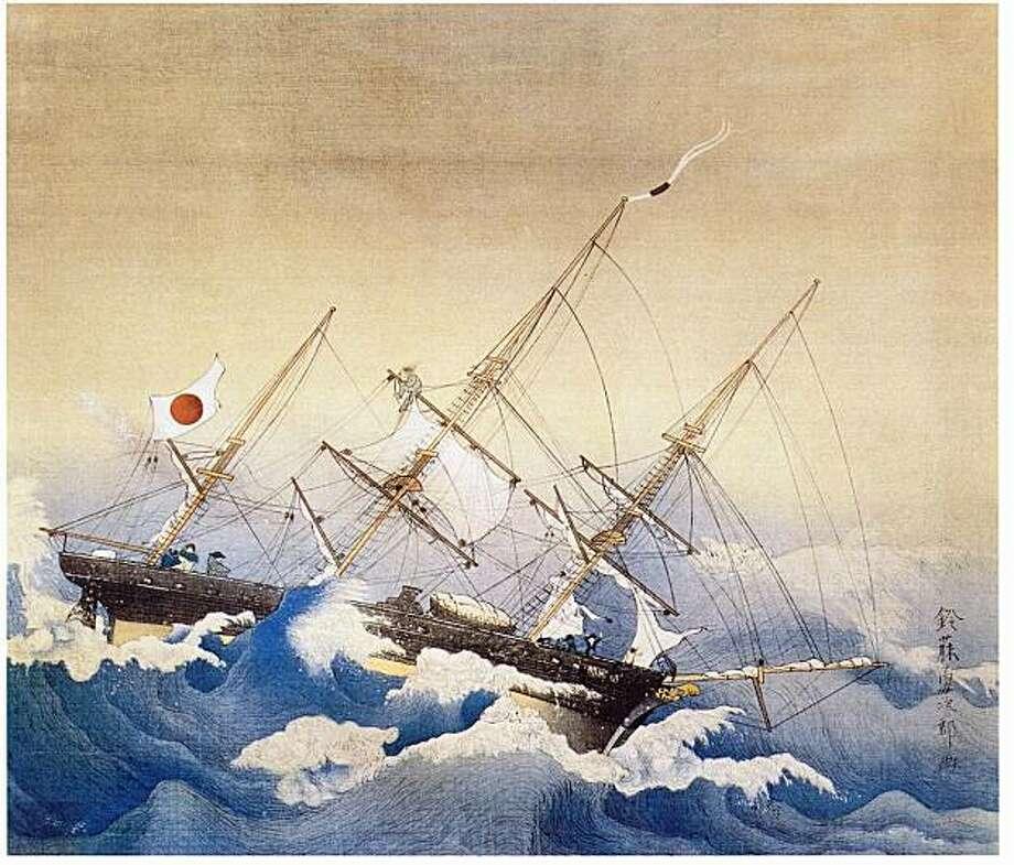 """""""The Kanrinmaru in Rough Seas"""" Photo: See Below"""