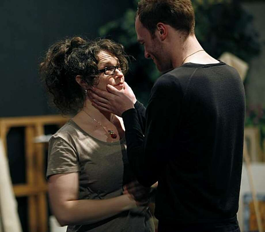 """Cory Tallman and Jamielee Roberts in rehearsal for """"Sheherezade X, """" which is a short play festival that will be taking place later in the month at the Phoenix Theater in San Francisco, Calif.  The play is directed by Sara Staley. Photo: Carlos Avila Gonzalez, The Chronicle"""