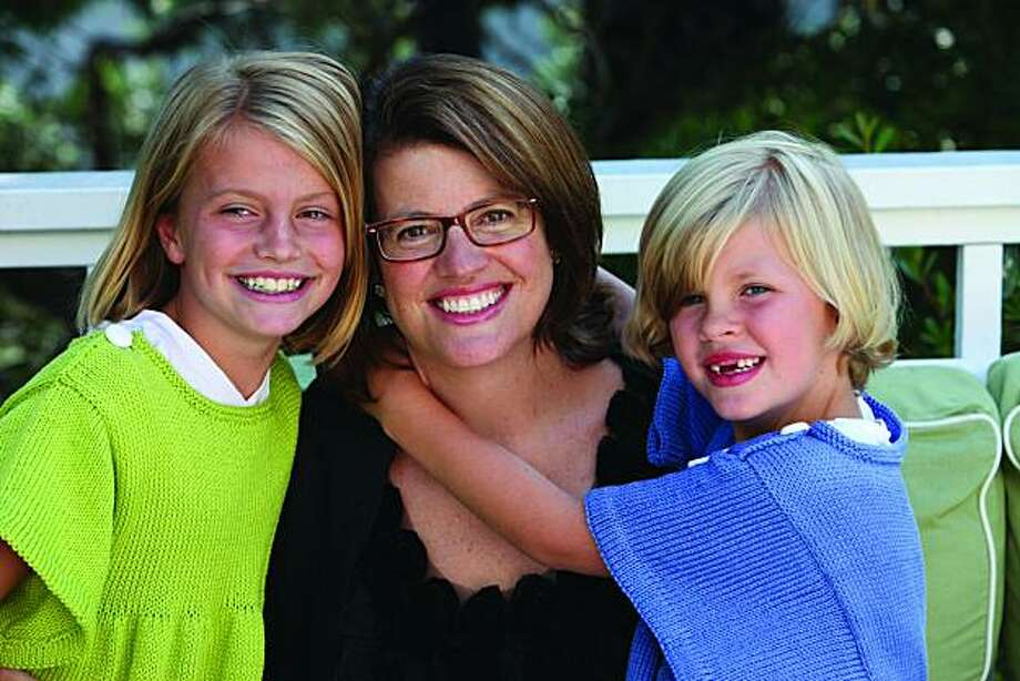 Author Kelly Corrigan and her daughters, Georgia (left) and Claire. Photo: Jennifer Reiley