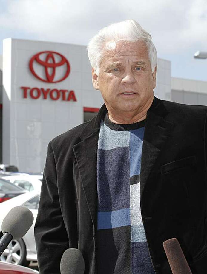 FILE - In this Tuesday, March 9, 2010 file photo, driver James Sikes talks about his experiences in his Toyota Prius during a news conference held at Toyota of El Cajon in El Cajon, Calif. A law firm for the driver who says his Toyota Prius sped out of control in California doesn't plan to sue the Japanese automaker. Photo: Denis Poroy, AP