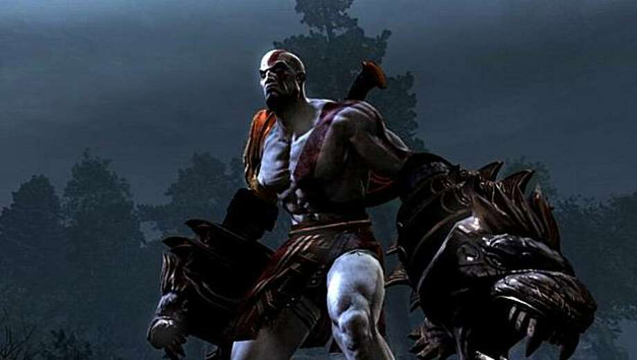 "In this video game image released by Sony Computer Entertainment, a scene is shown from the game ""God of War."" Photo: AP"