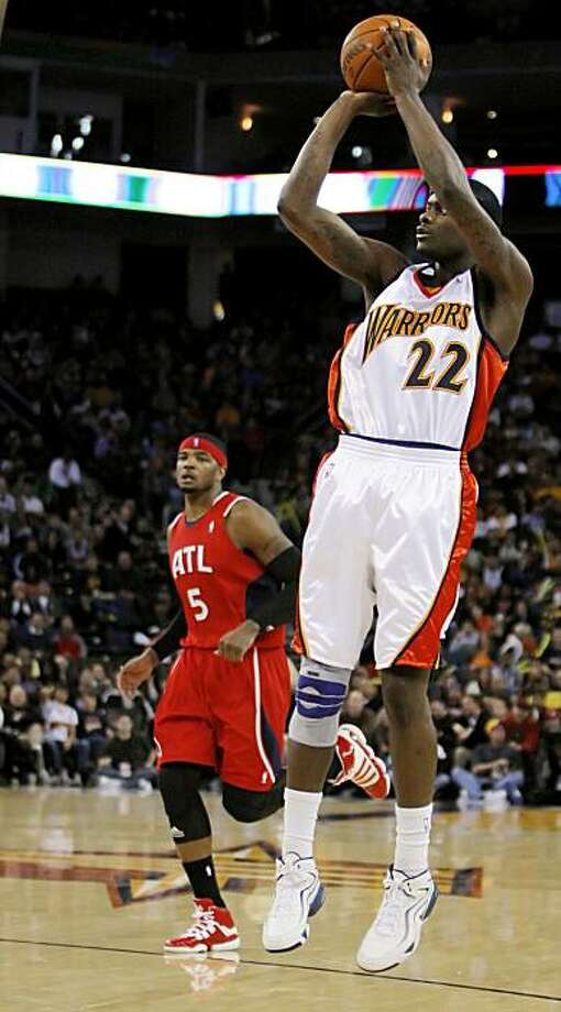 Anthony Morrow of the Golden State Warriors, playing against the Atlanta Hawks at Oracle Arena in Oakland., Calif., on February 21, 2010. Photo: Carlos Avila Gonzalez, The Chronicle