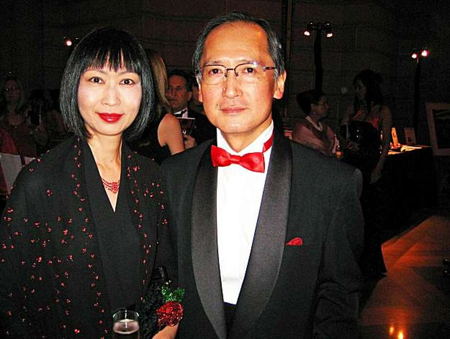 Ayako Nagamine and her husband, Japan Consul General Yasumasa Nagamine at the Red Cross Gala. March 2010. Photo: Catherine Bigelow, Special To The Chronicle