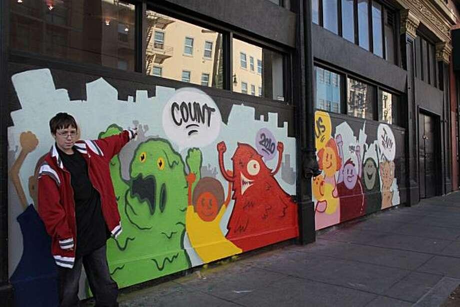 doubletruck, wall art by Yakub Mayer accompany stories on the census, 03-14-10 Photo: Yakub Mayer