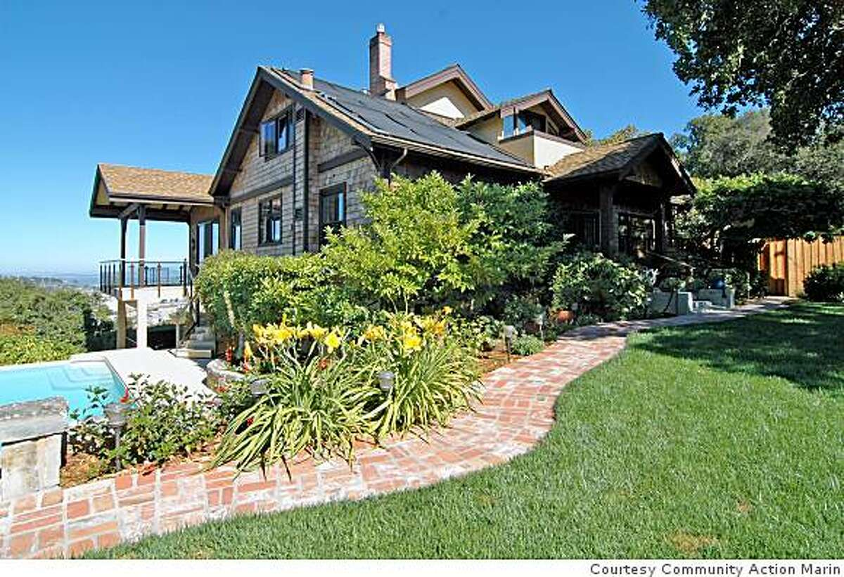 Exterior view of San Rafael home that is once again being raffled ($150 a ticket) to benefit nonprofit Community Action Marin.