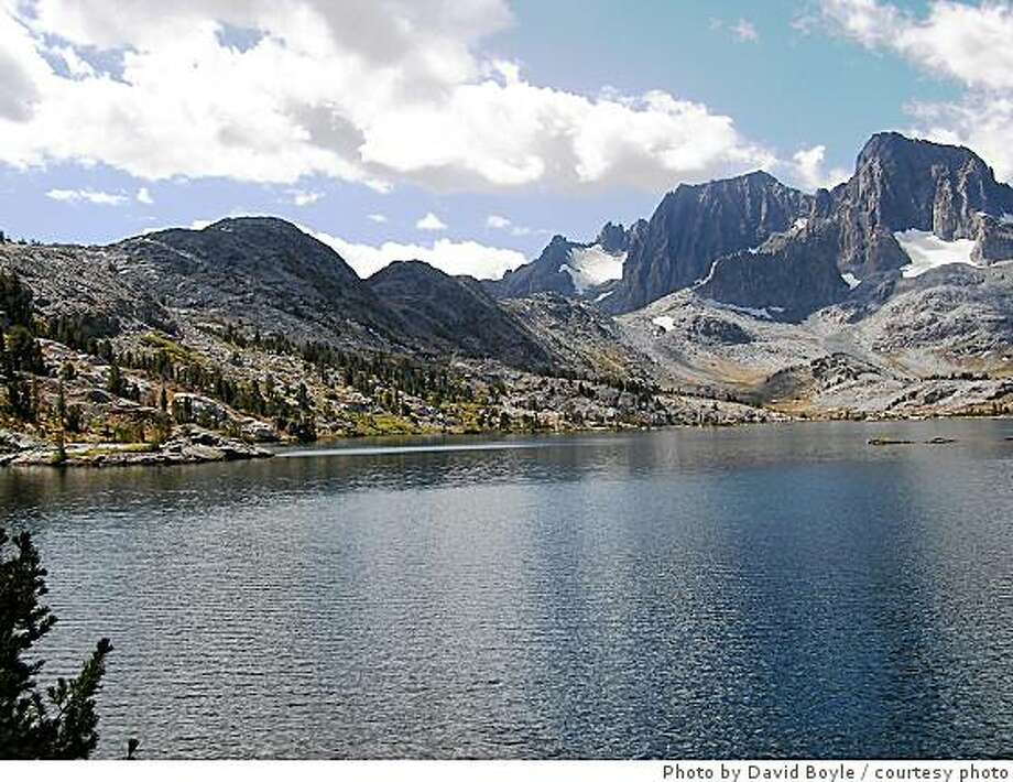 Garnet Lake in the Eastern Sierra is set beneath 13,143-foot Mount Ritter and 12,936-foot Banner Peak. The lake, which is in the Devil's Postpile area, was a favorite of John Muir and Ansel Adams Photo: Photo By David Boyle, Courtesy Photo