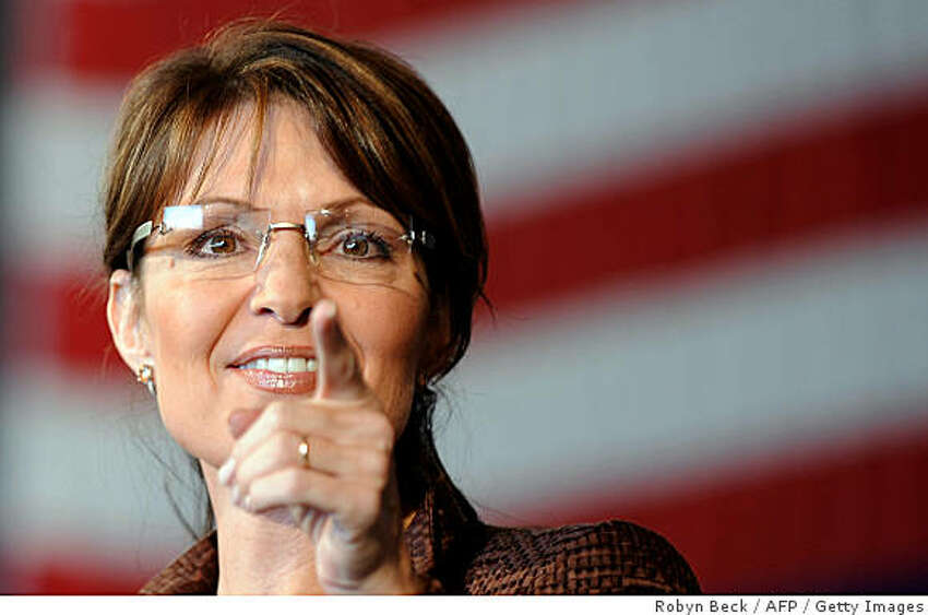 Alaska Governor Sarah Palin speaks at a campaign rally in Colorado Springs on Saturday.