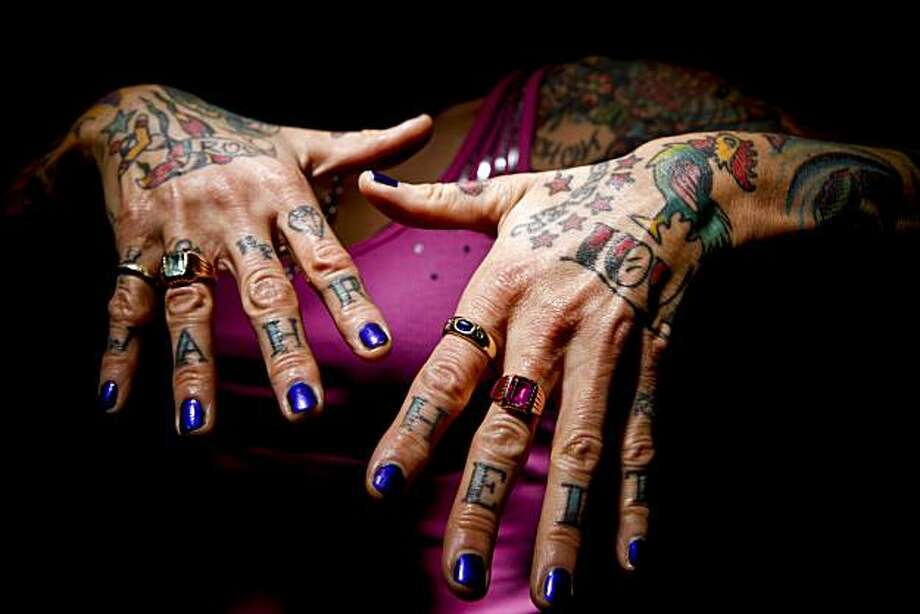 Tattoo artist Tanja Nixx is seen in San Francisco, Calif. on Friday, March 5, 2010. Photo: Russell Yip, The Chronicle