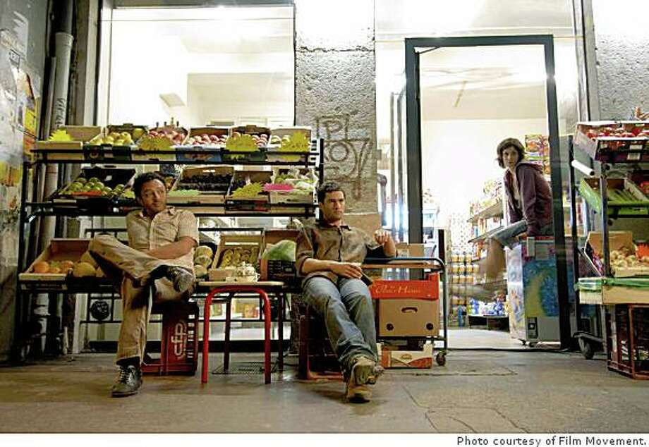 """Hassan (Chad Chenouga), Antoine (Nicolas Cazal�) and Claire (Clotilde Hesme) in Eric Guiardo's """"The Grocer's Son,"""" a tale of a city-dwelling prodigal son's reluctant return to his rural roots, opening September 5th at the Landmark Bridge Theatre in San Francisco, Shattuck Cinemas in Berkeley, and the Smith Rafael Film Center in San Rafael. Photo: Photo Courtesy Of Film Movement."""