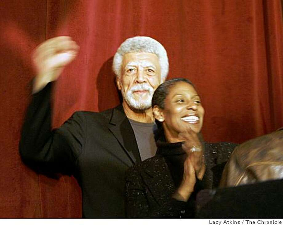 Former U.S. Rep. Ron Dellums and his wife Cynthia at the victory party for the Mayor of Oakland in Oakland,Ca.June 6, 2006. (Lacy Atkins/The Chronicle) Photo: Lacy Atkins, The Chronicle