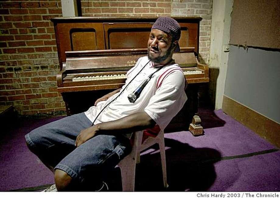 Hip hop artist Jahi Photo: Chris Hardy 2003, The Chronicle
