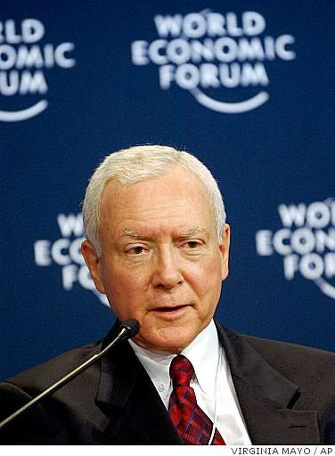 Sen. Orrin Hatch, R-Utah Photo: VIRGINIA MAYO, AP