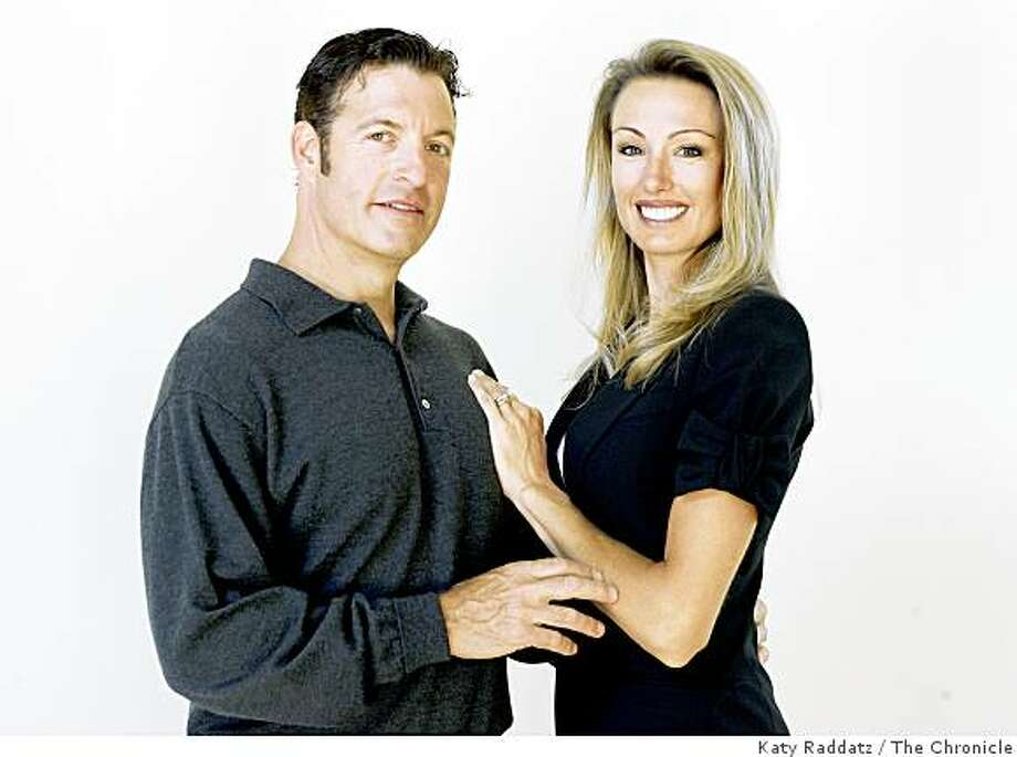 Stephen Grant, left,  and his wife Wendy Grant, right,  are founders of the Cord Blood Registry,  and pose for a portrait at their home in Los Altos Hills, Calif. on Sunday, August 31, 2008. Photo: Katy Raddatz, The Chronicle