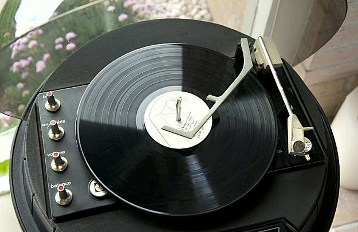 A retro record player is seen in Jennifer Jones' Oakland Hills Eichler home in Oakland, Calif. on Friday, Mar. 5, 2010.