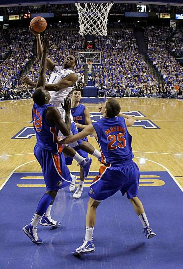 Kentucky's Darius Miller puts up a shot against Florida in NCAA men's basketball action at Rupp Arena in Lexington, Kentucky, on Sunday, March, 7, 2010. Kentucky defeated Florida, 74-66. (Charles Bertram/Lexington Herald-Leader/MCT) Photo: Charles Bertram, MCT