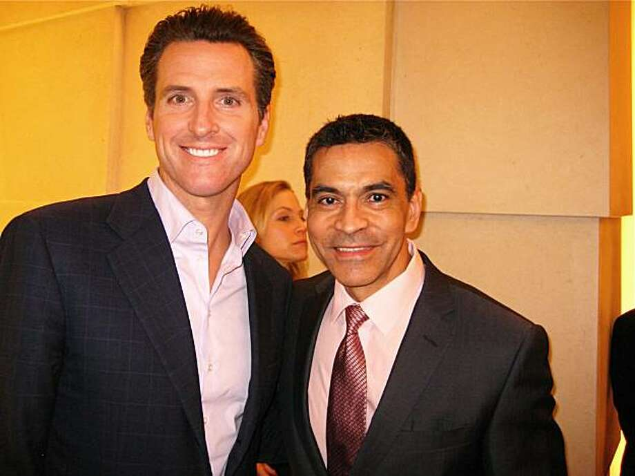 Mayor Gavin Newsom and Bulgari SF boutique director Daniel Diaz. March 2010. Photo: Catherine Bigelow, Special To The Chronicle