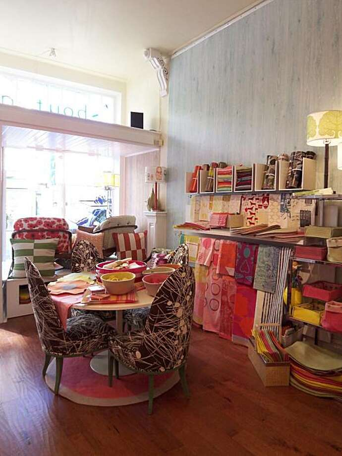 Lotus Bleu design boutique in Hayes Valley features an array of linens in eye-popping colors. Photo: Lotus Bleu