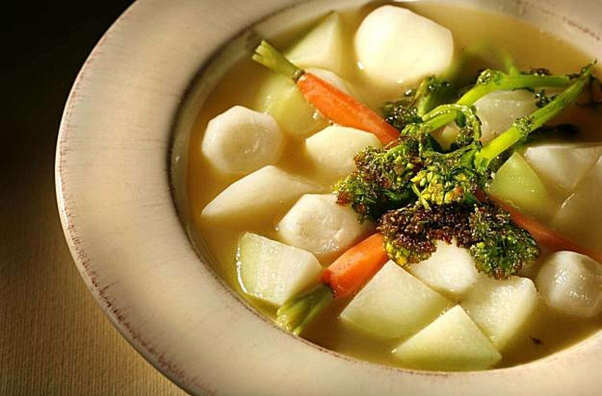 Little Vegetables recipe from Saison chef Joshua Skenes, San Francisco, Calif. Wednesday February 24, 2010