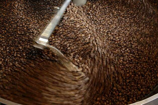 Roasted coffee beans are cooled in the roaster at  Ritual Coffee Roasters. Photo: Lea Suzuki, The Chronicle