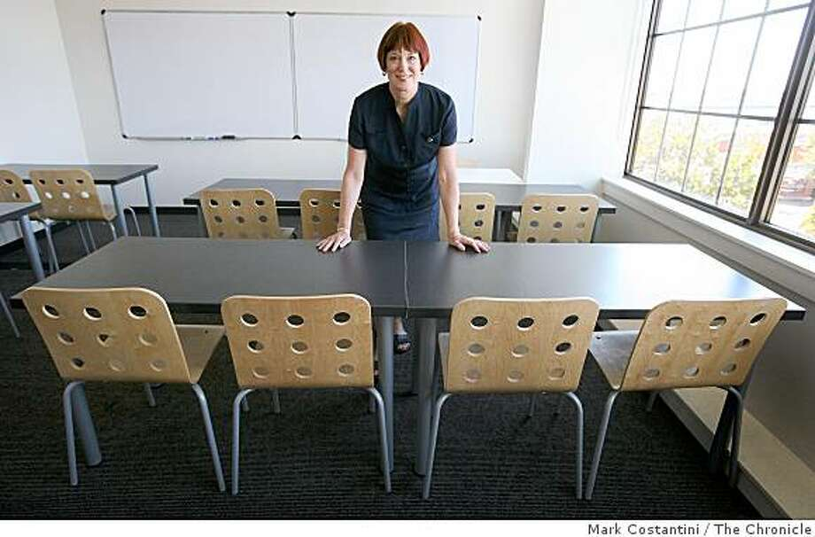 Jefferson Award Winner Marcy Jackson Director of the Englich Center poses in a classroom at the center in Oakland, Calif., on Wednesday , August 27, 2008. Photo: Mark Costantini, The Chronicle