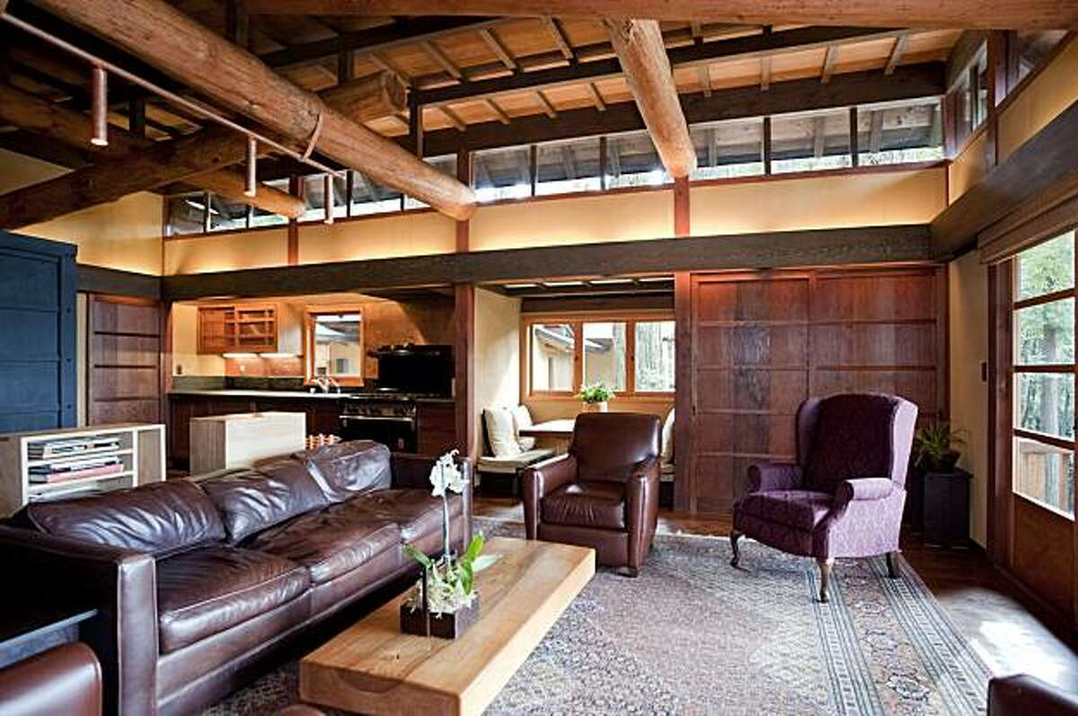 112 Marine Road for Hot Property Starestory windows create great views of redwoods forrest.