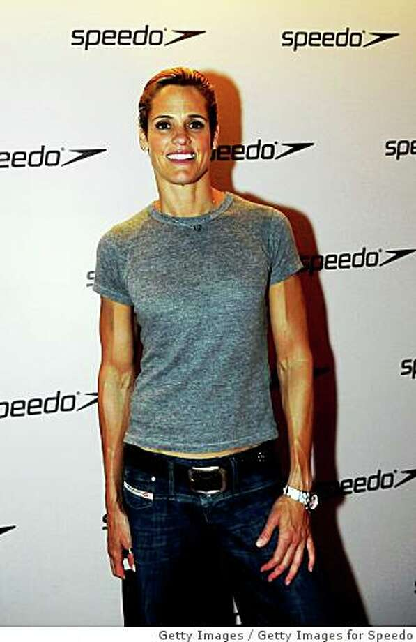 BEIJING - AUGUST 17:  Dara Torres of the United States arrives for the Speedo Athletes party at Wish on August 17, 2008 in Beijing, China.  (Photo by Getty Images for Speedo) Photo: Getty Images, Getty Images For Speedo