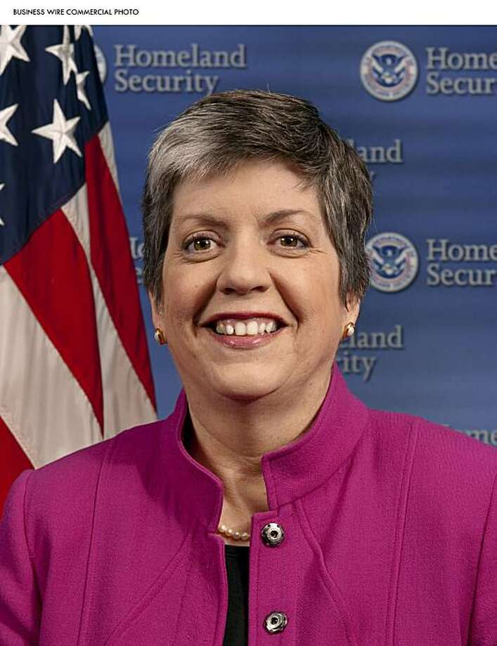 Janet Napolitano, U.S. Secretary of Homeland Security, keynoting at RSA Conference 2010 on Wednesday, March 3 (Photo: Business Wire) Photo: NyxoLyno Cangemi, Business Wire