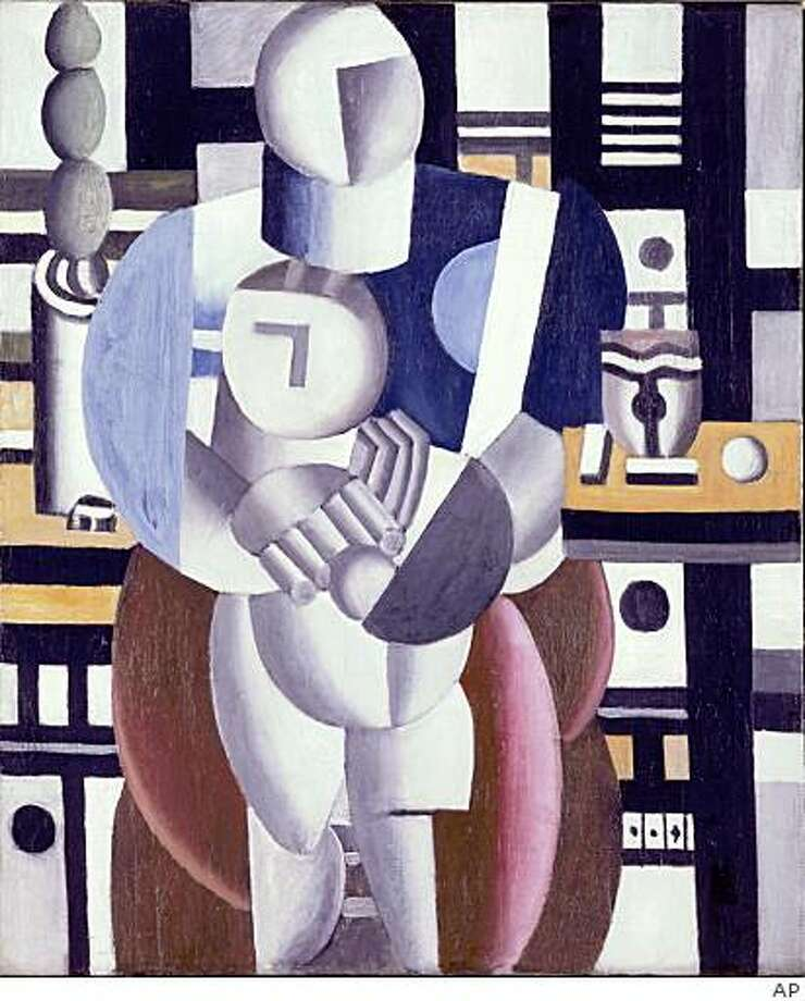 """This image provided by The Davis Museum and Cultural Center at Wellesley College shows the 1921 cubist painting """"Woman and Child"""" by French painter Fernand Leger. The museum has been unable to locate the painting since 2007. Last year Leger's paintings sold for an average of $2.8 million. (AP Photo/Davis Museum and Cultural Center at Wellesley College, HO) ** NO SALES ** Photo: AP"""
