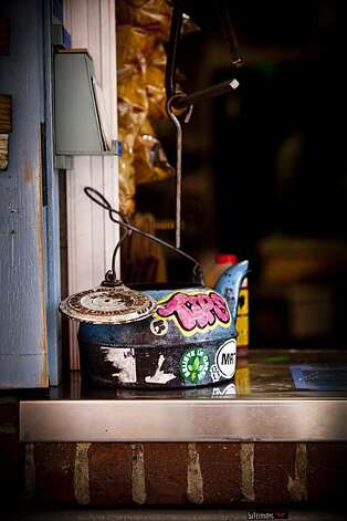 The tip jar at Little Skillet in San Francisco, Calif. is seen on Wednesday, Feb. 24, 2010. Photo: Russell Yip, The Chronicle