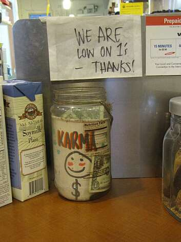 Tip jar from Mission Creek Cafe in the Mission Photo: Matt Petty