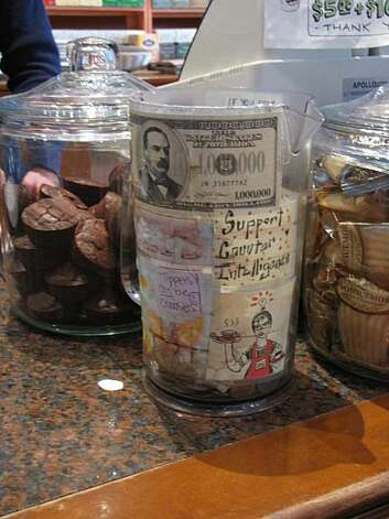 Tip jar from Que Tal Coffee House in the Mission Photo: Matt Petty