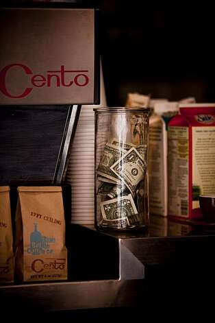 The tip jar at Cento in San Francisco, Calif. is seen on Wednesday, Feb. 24, 2010. Photo: Russell Yip, The Chronicle
