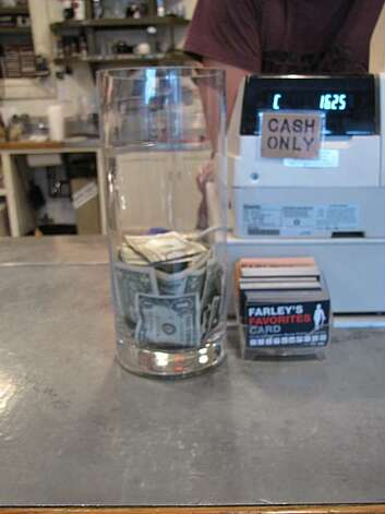 Tip jar from Farley's in Potrero Hill. Photo: Matt Petty