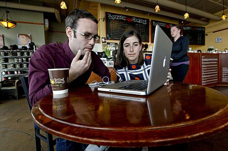 Charlie Hale, a co-founder of the Global Health Corps along with Jenny Miller, the CFO of the organization, conduct a web conference with their office in New York on Wednesday February 3, 2010, in San Francisco,Calif. Global Health Corps, is an organization that allows recent college graduates from the U.S. and abroad to serve in paid, year-long fellowships to improve health care for poor and marginalized communities. Photo: Michael Macor, The Chronicle