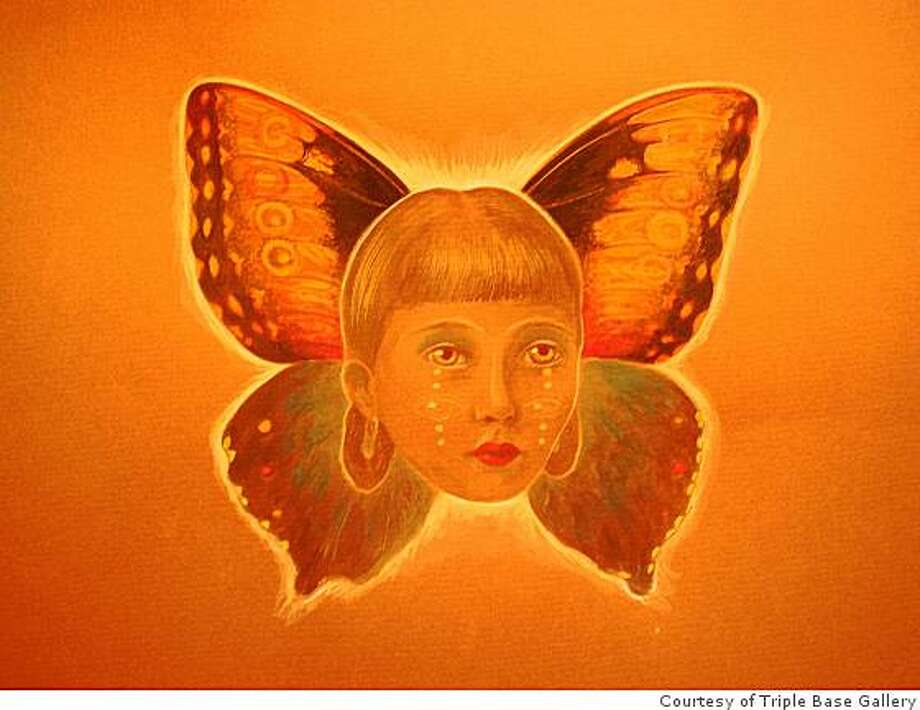 """Christine Shields""""Future Butterfly"""", 2008Mixed media on paper Photo: Courtesy Of Triple Base Gallery"""
