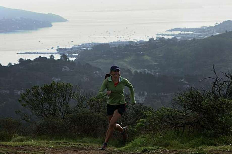 Florencia Gascon-Amyx, 45 years old, at one of her running trails in Mill Valley, Ca., on Monday, February 8, 2010.  She trains to race 100 milers as her season opens March 5 in Santa Barbara. Photo: Liz Hafalia, The Chronicle