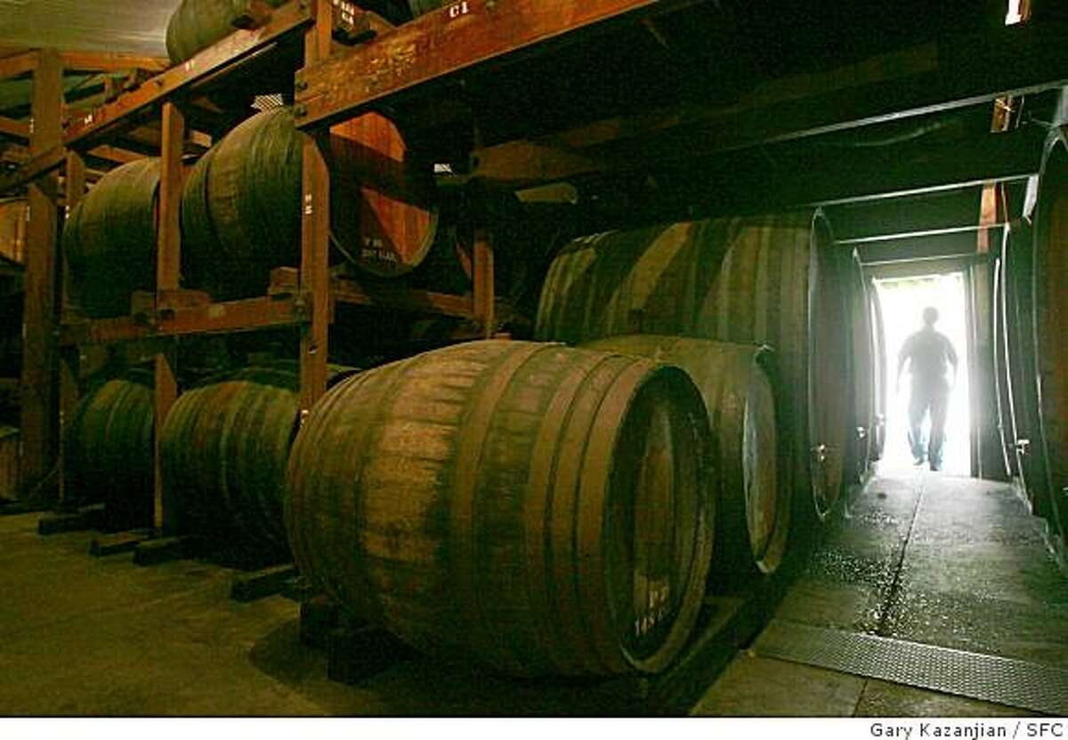 The old wine room at Ficklin Vineyards in Madera, Calif. Tuesday, Aug. 12, 2008. (Photo by Gary Kazanjian / Special to the Chronicle)