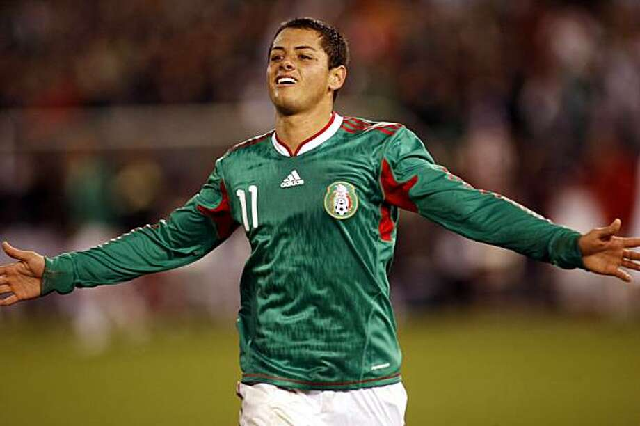 Mexico's Javier Hernandez reacts after scoring his second goal against Bolivia in the first half of an international friendly soccer match, Wednesday, Feb. 24, 2010, in San Francisco. Photo: Dino Vournas, AP