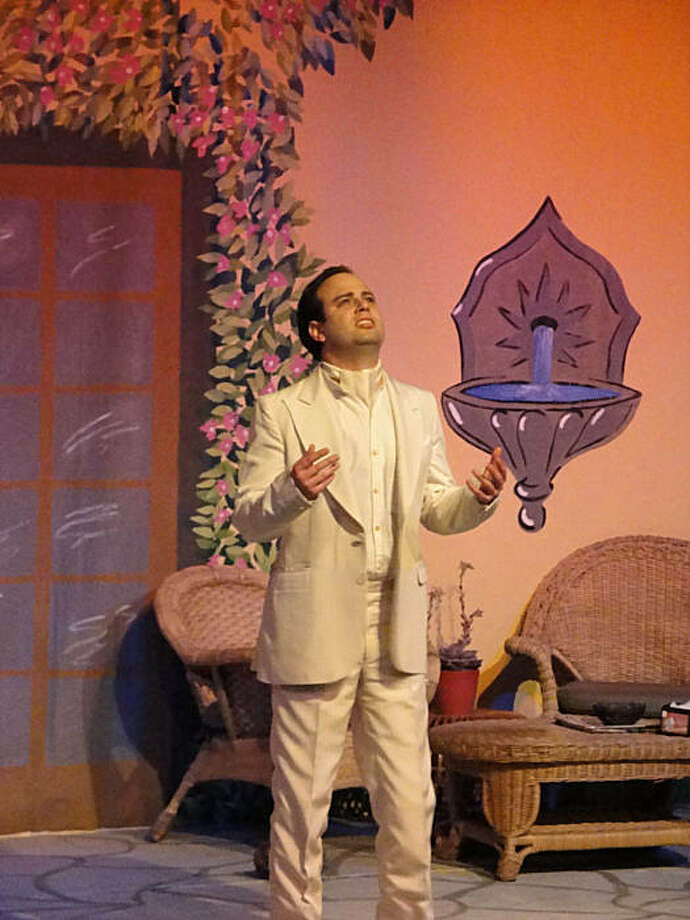 """The ghost of Federico Garcia Lorca (Michael Carlisi) wanders the streets of Andalusia  in Off Broadway West's staging of Nilo Cruz's """"Beauty of the Father"""" Photo: Cecelia Palmtag"""