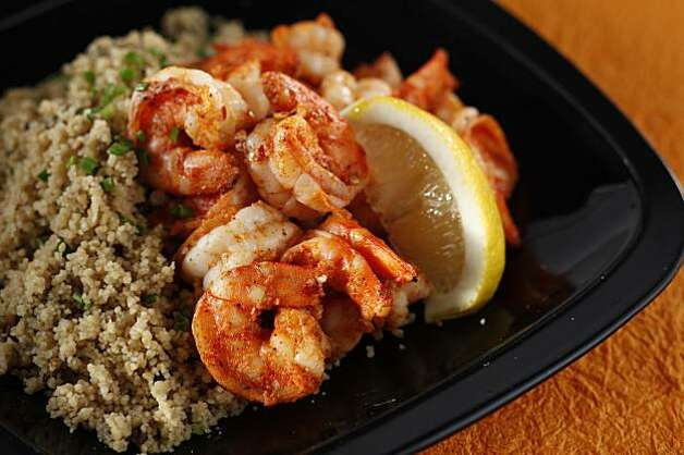 Wild Mushroom Couscous with Shrimp in San Francisco, Calif., on ...