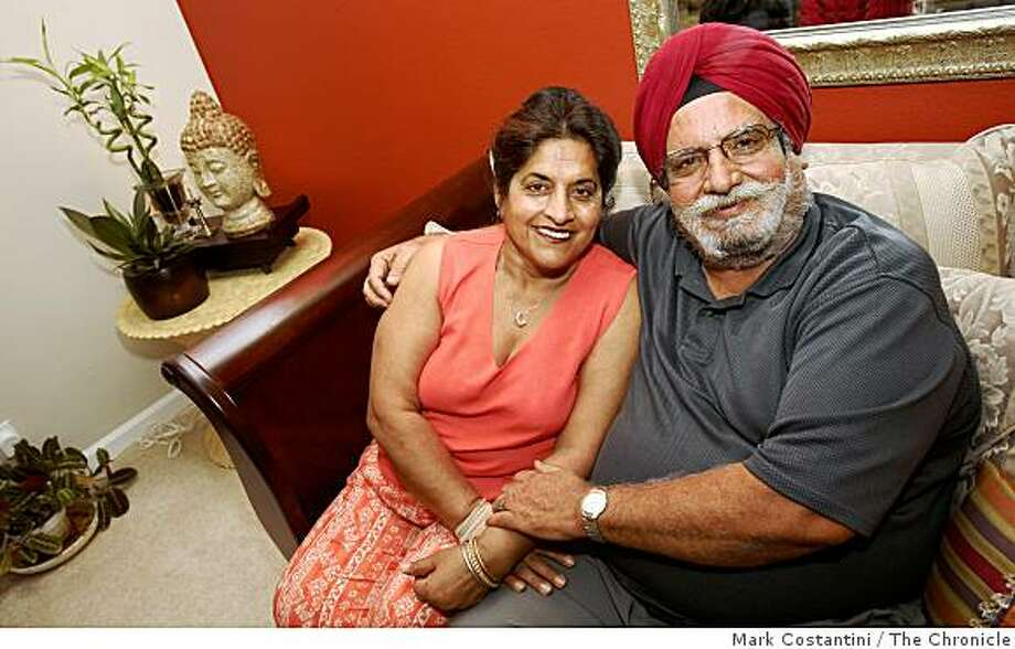 Sukhi(left) and Surinder Singh pose on their couch inDanville, Calif., on Thursday, August 22, 2008. Photo: Mark Costantini, The Chronicle