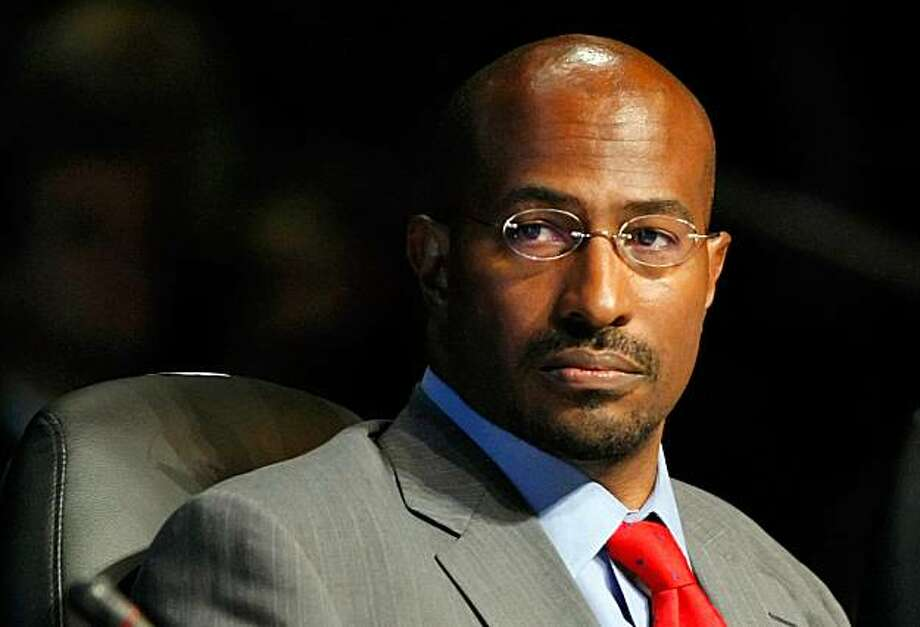 LAS VEGAS - AUGUST 10: (FILE PHOTO) Van Jones with the White House Council on Environmental Quality speaks during the National Clean Energy Summit 2.0 at the Cox Pavilion at UNLV August 10, 2009 in Las Vegas, Nevada. According to reports on September 6, 2009, Jones has resigned from his position as an environmental advisor to President Obama due to controversial comments he has made in the past.  (Photo by Ethan Miller/Getty Images) Photo: Ethan Miller, Getty Images